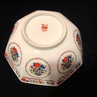 早期大同瓷器 八角湯碗 八角碗 非珊瑚紅