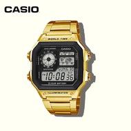 นาฬิกา casio แท้  AE1200 กีฬานาฬิกา คาซิโอ 100M กันน้ำ นาฬิกาสาย สายสแตนเลส