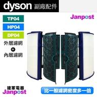 [97折]Dyson 戴森 超高密度 副廠濾網 TP04/HP04/DP04 空氣清淨機 HEPA 活性碳 內層 外層 濾網 濾芯