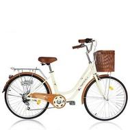 (J.J.Bike) 保利 BAOLI Milk 24吋6段 SHIMANO 變速系統 牛奶車 淑女車
