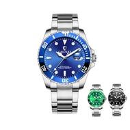 CHENXI 晨曦不鏽鋼石英錶 水鬼錶 不銹鋼腕錶 鋼帶手錶 情侶對錶 日曆錶大錶盤男士手錶 附發票【賣貴請告知】
