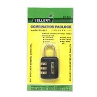 舍樂力 SELLERY 三碼金鉤號碼鎖頭 31mm 密碼鎖頭 22-319 特色不需鑰匙 可自行設定編號