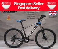 """[SG SELLER] [FULLY ASSEMBLED] [3MONTHS WARRANTY] 26"""" Raleigh 21 SPEED Alloy Frame Mountain Bike Disc Brake Bicycle"""