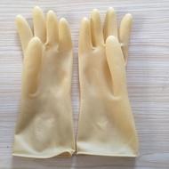 Waterproof Women's Gloves Oriental Red Latex Thick Wear Resistant