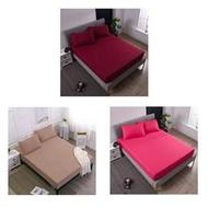 ♫特惠♫ 素色床包式防水保潔墊 完全防水隔尿墊 床墊保護套 單人/雙人/標準/加大/特大純色保潔墊