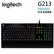 [領券折$100]羅技 G213 Prodigy RGB遊戲鍵盤 防潑濺 一體式掌墊 調整型腳架 多媒體按鍵【Sound Amazing】