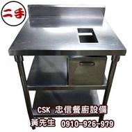 二手-多功能不鏽鋼工作台/切菜台