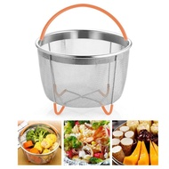 BuyBowie Instant Pot Accessories Steaming Basket Pot Steamer for Instant Pot Pressure Cooker Rice Cooker/Silicone Handle