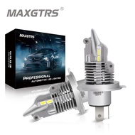 MAXGTRS Newest 1:1 Size H11 H4 H7 Mini LED Car Headlight Bulbs Wireless 9005 9006 HB3 HB4 H8 6000K White Auto Fog Lights