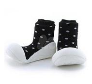 Attipas 快樂腳襪型學步鞋-牛奶巧克力