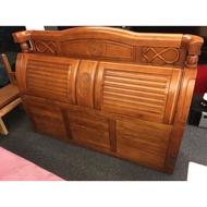 「民生社區」原木實木古典風柚木標準雙人床頭櫃,可搭柚木詩肯床架5*6.2呎,歡迎自取
