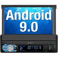 PUMPKIN Android 9.0 Single Din Car Stereo Bluetooth Support GPS Navigation DAB+ WIFI Adjustable Touch Screen READAY STOC