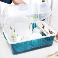 碗架碗櫃塑膠廚房瀝水碗架帶蓋碗筷餐具收納盒放碗碟架滴水碗盤置物架