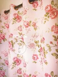 TPU Inter💢 ผ้าม่าน ลายดอกกุหลาบ หน้าต่าง ประตู กันแสง กั้นห้อง กันยูวี กันแดด มินิมอล ม่านตาไก่ ม่านสำเร็จรูป ตาไก่ ม่าน เมตร Curtain