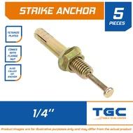 5PCS 1/4 inches Strike Anchor Tetanized Hit Anchor for Concrete Anchor Bolt Expansion Bolt