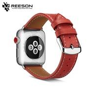 สายนาฬิกาหนังทันสมัยสำหรับApple Watchทุกรุ่น (44Mm/42 Mm/40Mm/38Mm)-สายสีน้ำตาล + ฮาร์ดแวร์เงิน100% Cowhide Apple Watch Series 1/2/3/4/5/6/SE Strap