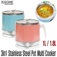 BEST ITEM [KSOME] 1L / 1.8L - 3in1 Stainless Steel Hot pot  Multi Cooker / Noodle Cooker