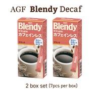 AGF Blendy Decaf 7pcs Box x 2 Blendy Stick Decaf Instant caffeine-free Coffee Blendy Instant Decaf