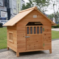 new Rain proof package mail fir solid wood dog house wooden dog house small dog house pet house dog cage dog hous