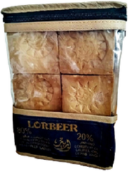 [敘利亞洛貝爾LORBEER] 正宗阿勒坡手工淨膚古皂175G六塊家庭分享包  20%月桂油+80%橄欖油