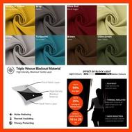 "Kain Langsir Tebal Blackout Bidang 60"" / Extra Thick Blackout Plain Fabric Curtain 60"" / Pink Grey Silver Cream"