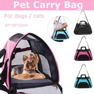 Tote Cage Bag Mesh Crate Kennel Pet Dog Cat Rabbit Portable Travel Carrier 3 Color