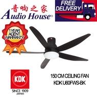 KDK U60FWS-BK 150CM CELLING FAN ***1 YEAR KDK WARRANTY***