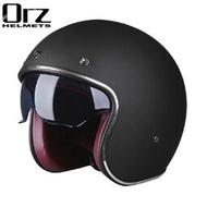 【熱賣】|復古哈雷頭盔男女半盔踏板機車頭盔半覆式安全帽3/4盔個性酷Orz