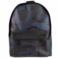 【COACH】拼接皮革迷彩前口袋後背包/旅用包(藍黑)