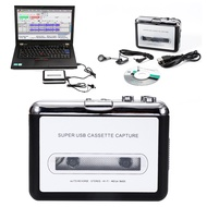BALLAD [COD จัดส่งฟรี] สีดำแบบพกพาเครื่องเล่นเทปคาสเซ็ตต์ USB CASSETTE MP3/WAV Mustic แผ่นดิสก์เล่น DVD Player