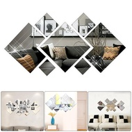 Mirror Tiles Self Adhesive Tile Wall Floor  Decal Sticker