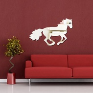 Acrylic Mirror Animal Wall Sticker 3D Stereo Horse Mirror Sticker Living Room Background