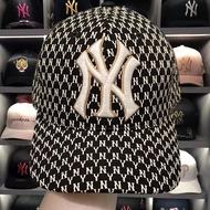 ۩2019韓國MLB棒球帽女19新款印花ny洋基隊聯名款帽子小標鴨舌帽ins