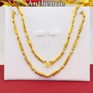 916 pure gold necklace male