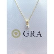 MOISSANITE DIAMOND GOLD VERMEIL NECKLACE