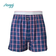 【Sloggi】men Vacation系列寬鬆平口褲 紳士藍(G918718 B5)