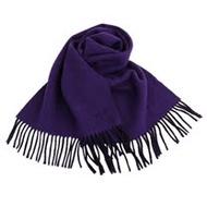 agnes b. - 小 b.系列流蘇雙面圍巾/披巾(亮紫/黑)
