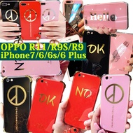 G-DRAGON Fashion Letter Mirror Case for OPPO R9 R9s R11 Plus iPhone 7 6 Plus Couple Soft Shell GD