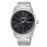 SEIKO 精工 V158-0BE0D(SNE527P1) 質感簡約太陽能時尚腕錶-黑/38mm