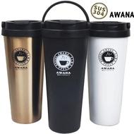 【台灣AWANA】手提式咖啡杯500ml保溫杯X3入 真空隨手杯(3入隨機)