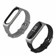 小米手環3代 經典青春腕帶/錶帶 金屬框 矽膠錶帶 加贈保護貼2張