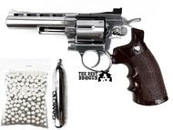 ปืนบีบีกัน ปืนลูกโม่ WinGun 701 ลำกล้อง 4 นิ้ว ฟรี  ลูกเซรามิค 300 นัด+C02 จำนวน 1 หลอด