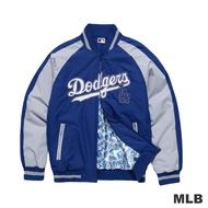MLB-洛杉磯道奇隊撞色造型運動合身棒球外套-藍色(男)