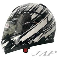 GP5 682 類極速運動 黑白 小帽體 內襯全可拆 全罩安全帽