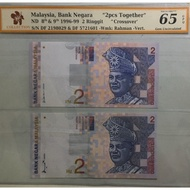 """""""Crossovers"""" Malaysia 1996-99 8th&9th 2 Ringgit"""