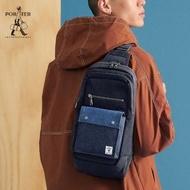 【PORTER INTERNATIONAL】PATCH WORK造型單肩包(深藍色)