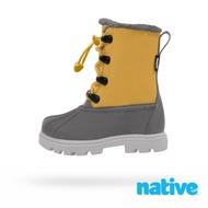 native 大童鞋 JIMMY 3.0 小獵鴨靴-芥末黃x灰