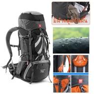 NatureHike 70L Rucksack กระเป๋าเป้เดินป่ากลางแจ้งกระเป๋าเป้เดินทางกันน้ำไนลอนอลูมิเนียมอัลลอยด์ภายนอกกรอบกีฬาเป้