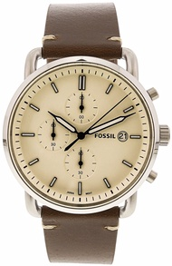 Fossil Men's Commuter FS5402 Silver Stainless-Steel Japanese Chronograph Fashion Watch