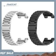 FanicasStainless Steel Smart Watch Strap for Huami Amazfit T-Rex Pro/Amazfit T-Rex